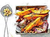 Süßkartoffel-Kichererbsen-Blech Rezept
