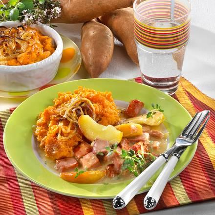 Süßkartoffel-Püree zu Apfel-Kasseler-Ragout Rezept