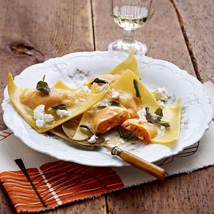 Süßkartoffel-Ravioli Rezept