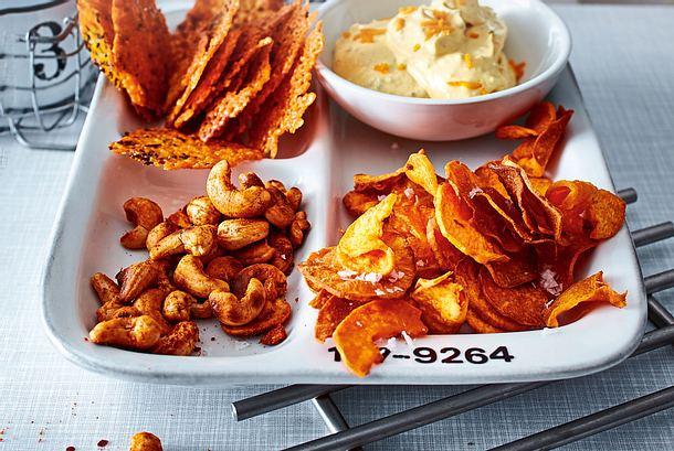 Süßkartoffelchips für einen Knusper-Coup Rezept