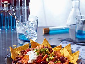 Süßkartoffelpfanne mit Hack und Tortilla-Chips Rezept