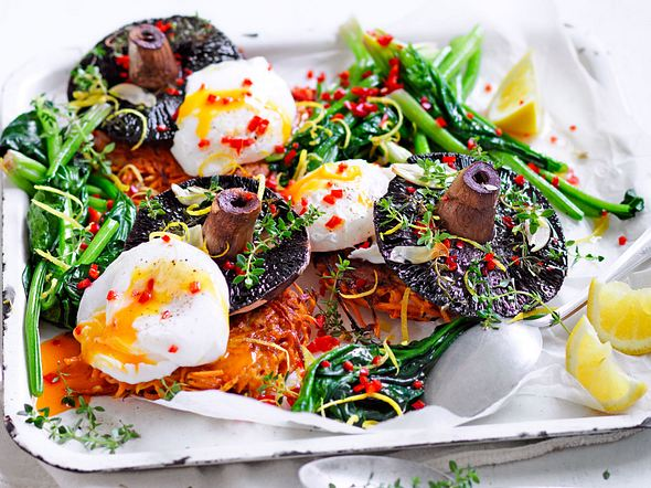 Süßkartoffelrösti mit pochiertem Ei Rezept