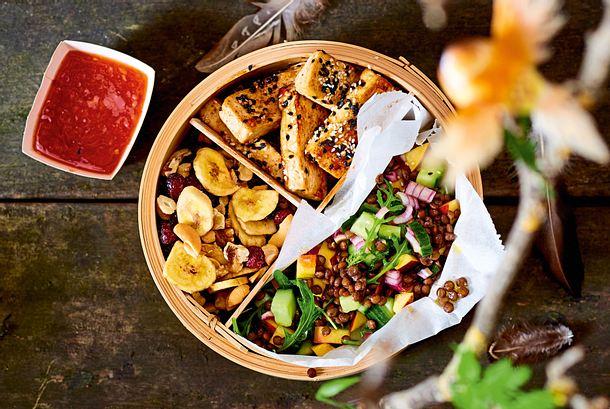 Sommerlicher Nektarinen-Linsen-Salat Rezept