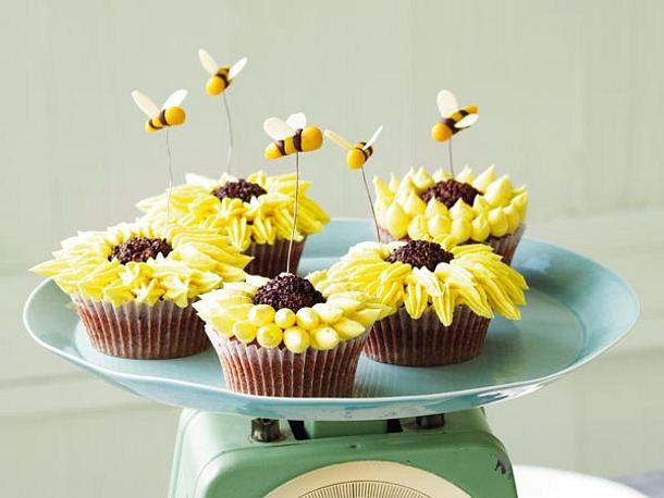 Sunflower-Cupcakes Rezept