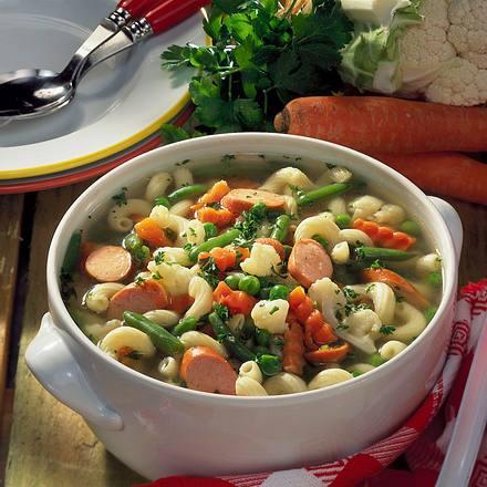 Suppe mit Sommergemüse Rezept