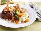 Surf & Turf vom Grill mit Wokgemüse Rezept