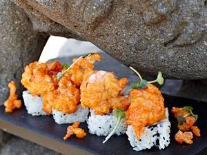 Sushi mit gebratenen Garnelen Rezept