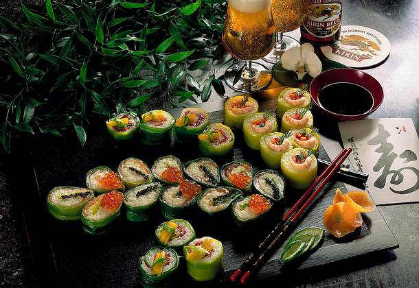 Sushi (raffinierte Reishappen) Rezept