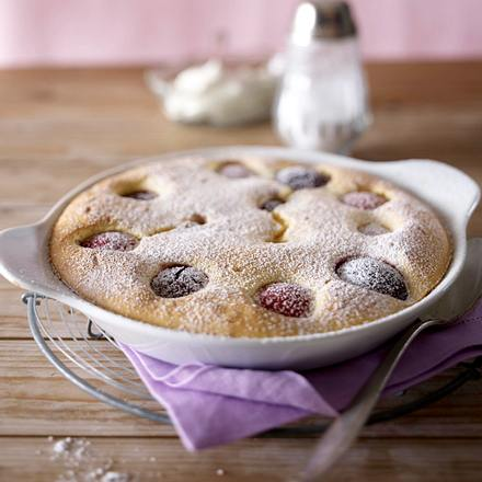 Susinen-Clafoutis (Pflaumen-Biskuit-Kuchen) Rezept