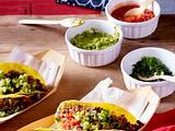 Tacos mit Rindfleisch und verschiedenen Soßen Rezept