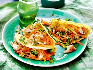 Tacos mit Seelachs und Möhren-Brokkoli-Salat Rezept