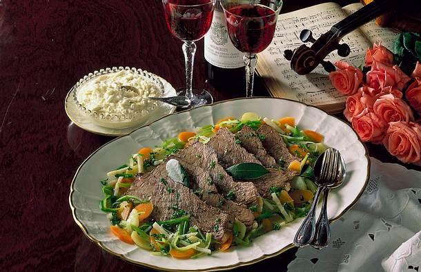 Tafelspitz mit Bouillon-Gemüse Rezept