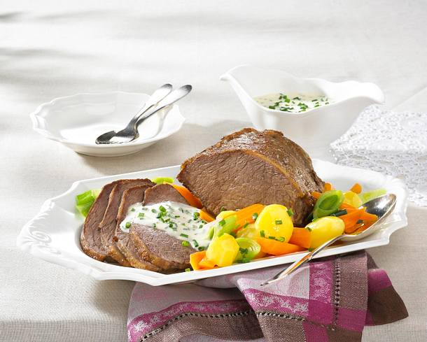 Tafelspitz mit Bouillon-Kartoffeln Rezept