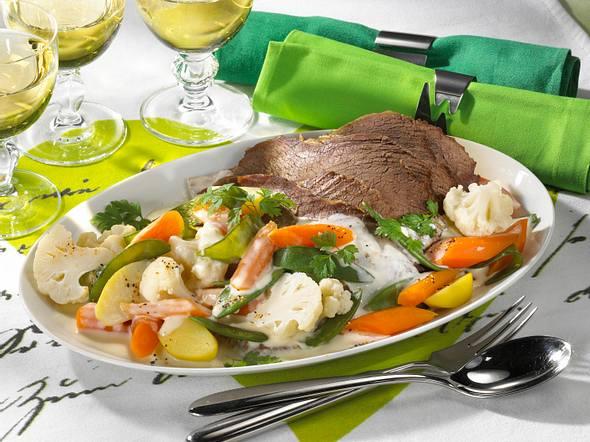 Tafelspitz mit Gemüse Rezept