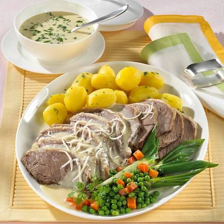 Tafelspitz mit Schnittlauch- & Meerettichsoße Rezept