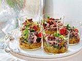 Tafelspitzsalat auf Zwiebelconfit Rezept
