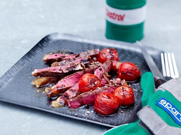 Tagliata mit Balsamico-Tomaten Rezept