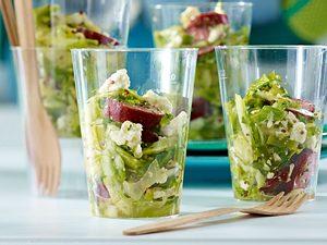 Take-away-Krautsalat mit Kabanossi Rezept