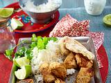 Tandoori Chicken mit Naanbrot Rezept