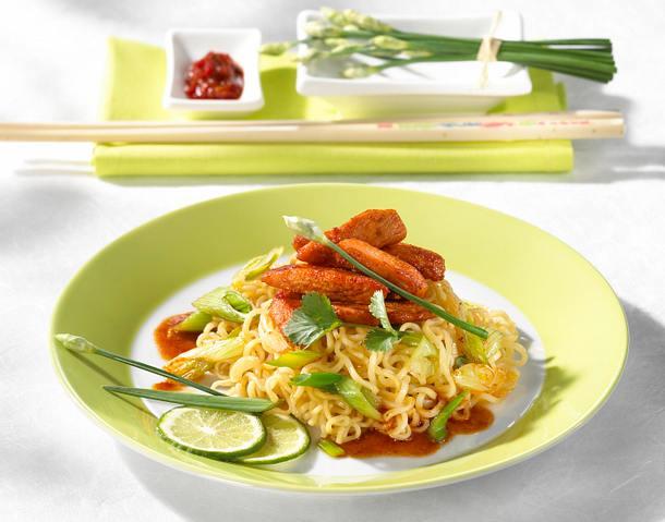 Tandoori-Chicken mit Nudeln Rezept