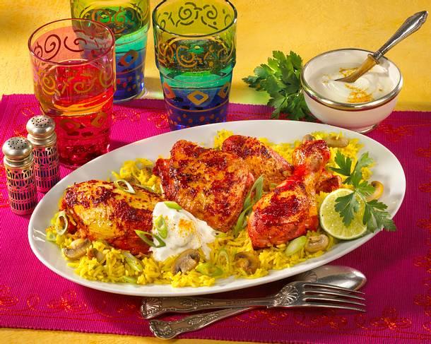 tandoori h hnchen mit curry reis rezept chefkoch rezepte auf kochen backen und. Black Bedroom Furniture Sets. Home Design Ideas