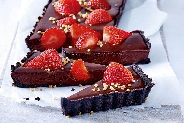 Tarte au Chocolat à la fraise Rezept