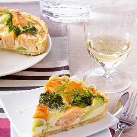 Tarte saumon/brocoli Rezept