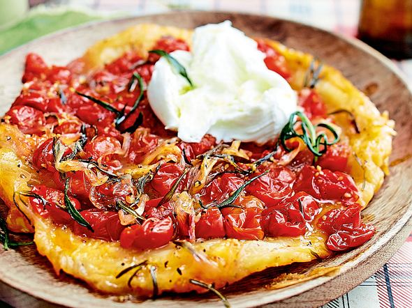 Tarte Tatin aux Tomates Rezept