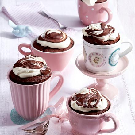Tassenkuchen Mit Nuss Nougat Creme Rezept Lecker