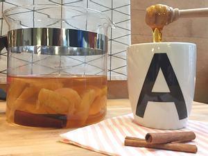 Apfel-Zimt-Tee aus Apfelschalen