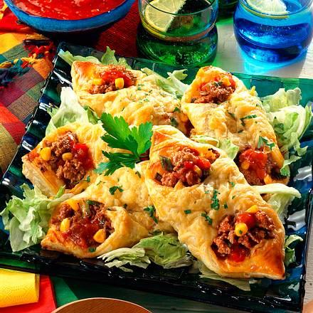 Teigtaschen auf mexikanische Art Rezept