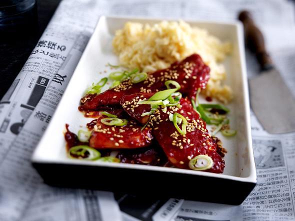 Teriyaki-Hähnchenschnitzel aus dem Ofen Rezept