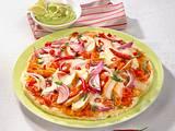 Tex-Mex-Pizza mit Hähnchen Rezept