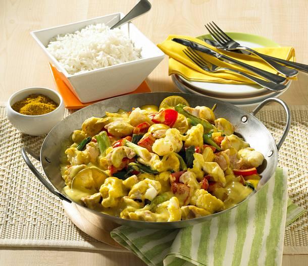 Thai-Curry mit Blumenkohl aus dem Wok Rezept