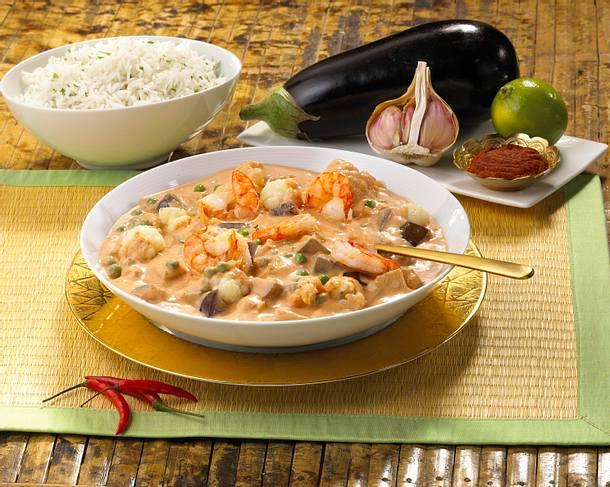 Thai-Curry mit Garnelen Rezept
