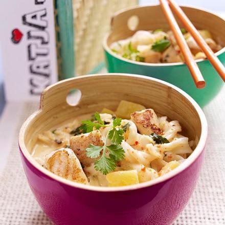 Thai-Nudeln mit Fisch & Ananas Rezept