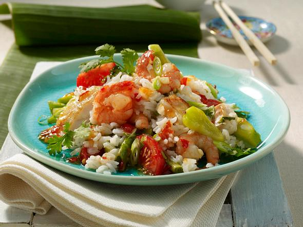 Thai-Reis mit Meeresfrüchten Rezept