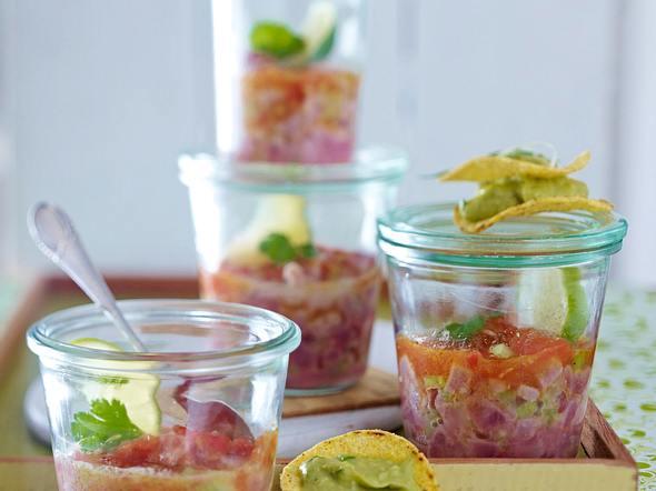 Thunfisch-Cevice mit Guacamole Rezept