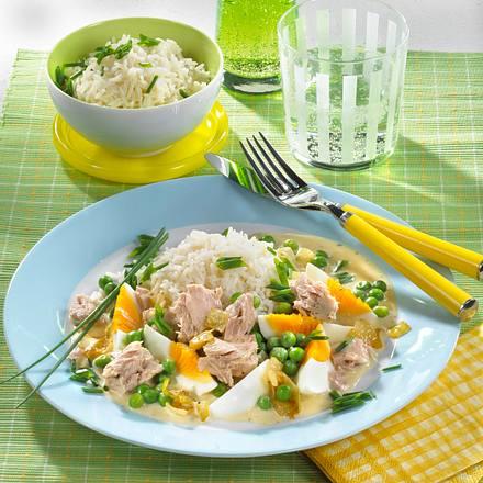 Thunfisch-Ei-Ragout mit Erbsen Rezept