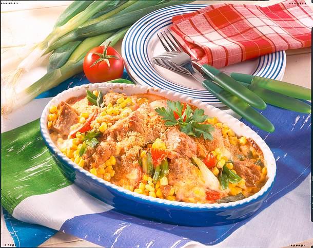 Thunfisch-Mais-Auflauf mit goldgelber Kruste Rezept