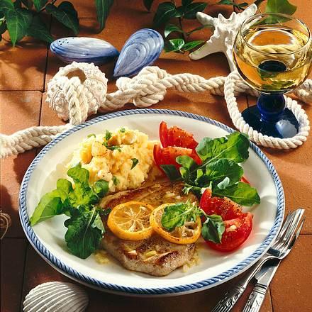Thunfisch mit Knoblauch-Püree Rezept