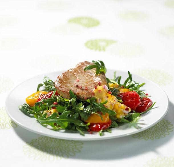 Thunfisch mit Mangosoße Rezept