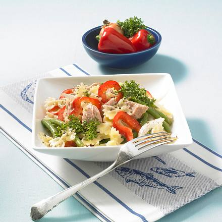 Thunfisch-Nudel-Salat mit Kresse-Vinaigrette Rezept