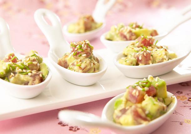 Thunfisch-Sashimi mit Avocado Rezept