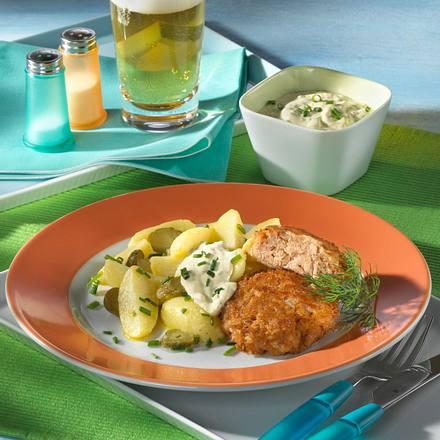 Thunfischfrikadellen mit Kartoffelsalat Rezept
