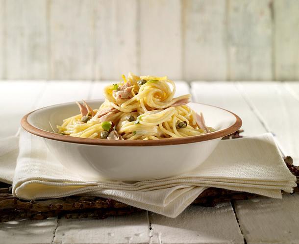 Thunfischsoße mit Kapern zu Spaghetti Rezept