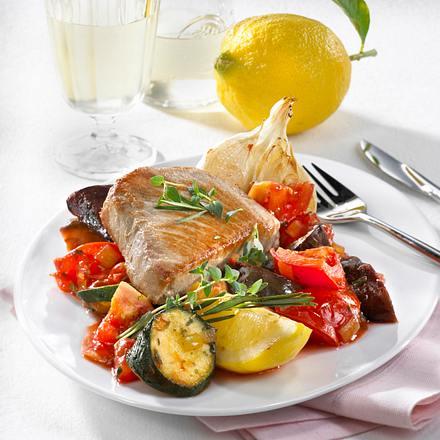 Thunfischsteaks mit Gemüse à la Provence Rezept
