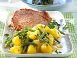 Thymian-Kartoffelsalat zu Kasseler Rezept
