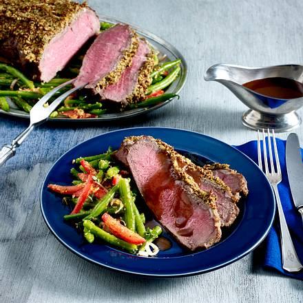 Thymian-Senf-Roastbeef Rezept