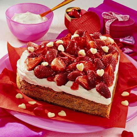 Tiramisu-Erdbeerherz Rezept